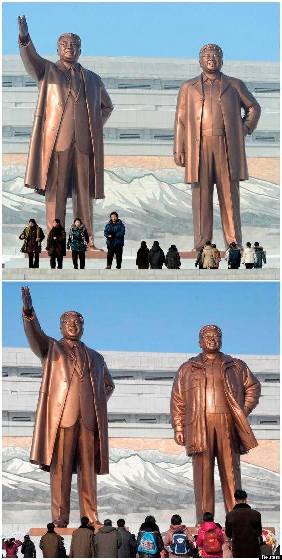 Corée du Nord : une statue de Kim-Jong-il perd un manteau et gagne un