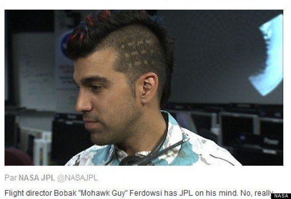 PHOTOS. VIDÉO. Bobak Ferdowsi, un ingénieur de la Nasa coiffé comme un iroquois responsable de la mission...