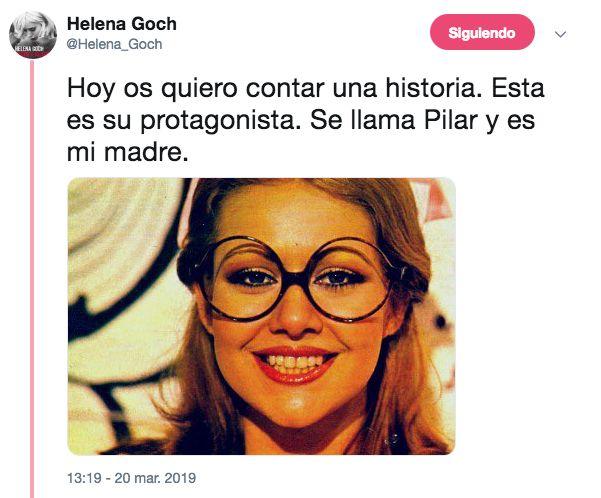 El aplaudido homenaje de esta tuitera a su madre, la azafata feminista del 'Un, dos, tres...':