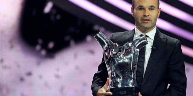Andres Iniesta sacré meilleur joueur de l'UEFA devant Lionel