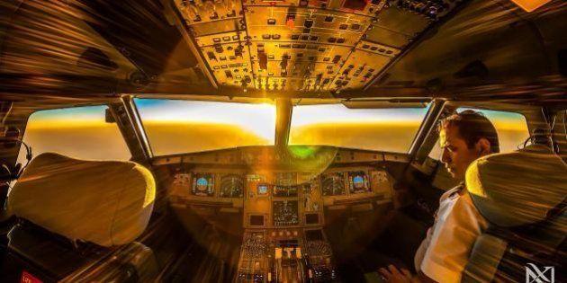 Les étonnantes photos depuis le cockpit d'un avion réalisées par le pilote Karim