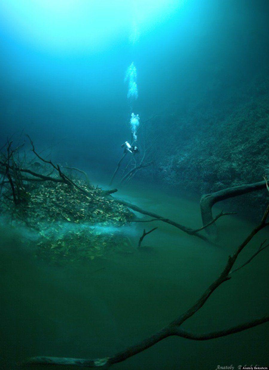 PHOTOS. Une rivière sous la mer dans la Cenote Angelita au