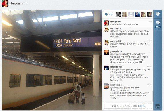 VIDÉOS. Rihanna, bousculée par ses fans à la gare du Nord à Paris, trouve les Français