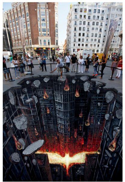 Street Art en 3D: quand le monde s'effondre sous nos