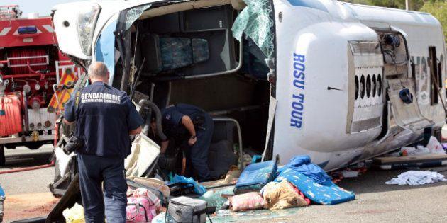 Accident d'autobus dans le Var: un nourrisson mort, 40 blessés dont 5