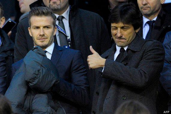 David Beckham: son premier entraînement avec le PSG, devant 200