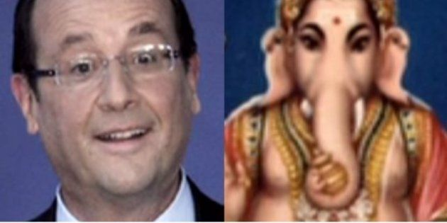 VIDÉO. François Hollande en Inde : Ganesh, ce dieu éléphant qui lui ressemble