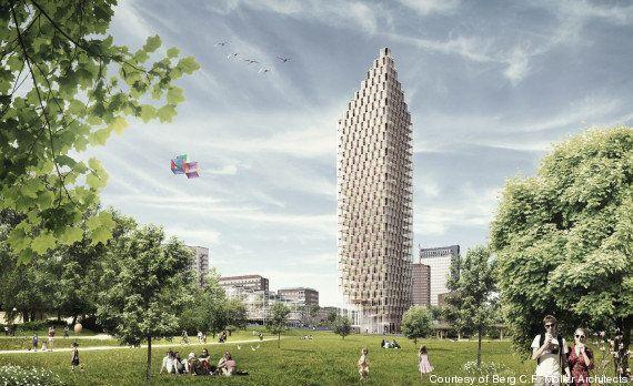 Un projet de gratte-ciel en bois au centre de
