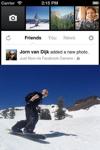 Facebook lance son application photo en France, mode