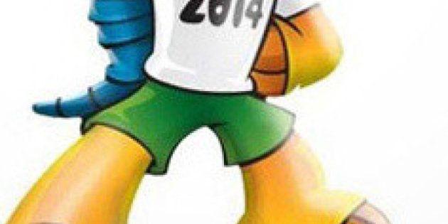 PHOTOS. VIDÉOS. Un tatou à trois bandes : la mascotte de la Coupe du Monde 2014 officiellement