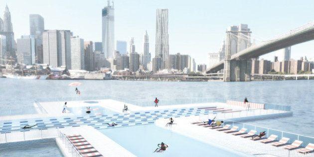 PHOTOS. Un projet de piscine publique en plein milieu de l'East River à New