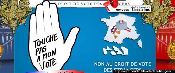L'UMP lance une pétition contre le droit de vote des étrangers... comme la Droite