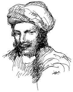 Portrait d'Abou Nawas par Kahlil