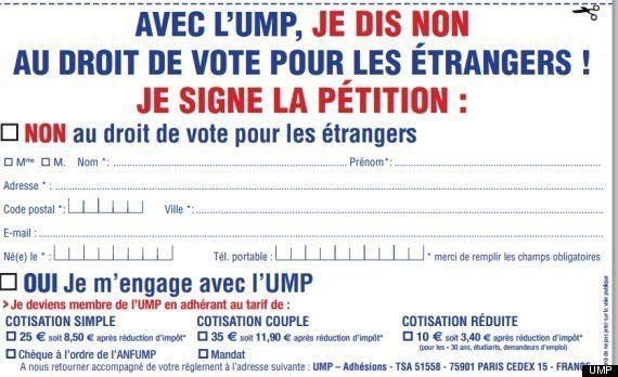 L'UMP recrute de nouveaux adhérents via sa pétition contre le vote des