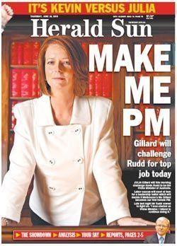 Australie : démission de Julia Gillard, l'impopulaire premier ministre australienne contrainte de renoncer...