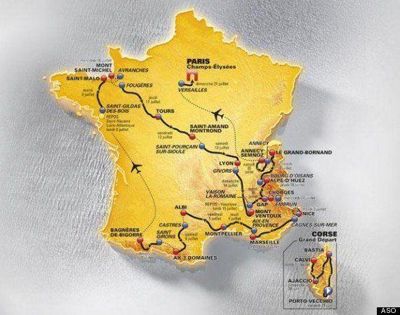 VIDÉO. PHOTOS. Corse, Mont-Saint-Michel, Versailles: le plus beau des Tours de France pour son