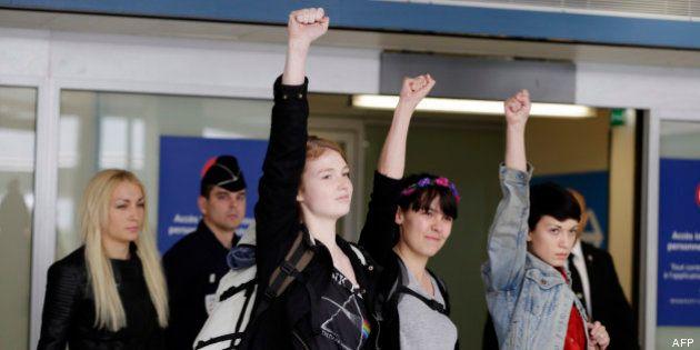 Tunisie: Les trois Femen libérées dans la nuit à Tunis sont arrivées en