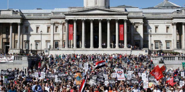 PHOTOS. Syrie: les manifestations anti-intervention dans le
