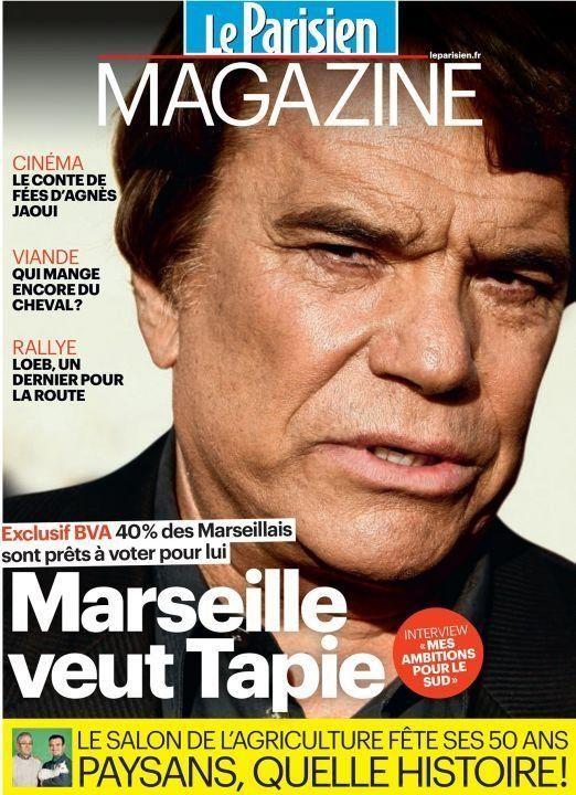 Municipales à Marseille: Bernard Tapie sera candidat pour 57% des