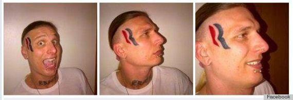 Il se fait un tatouage du logo de Mitt Romney sur le front pour 5000