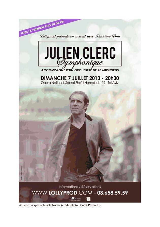 Julien Clerc, Israël et les pressions du