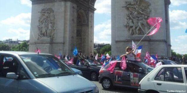 La Manif pour tous défile en voitures pour exiger la libération d'un