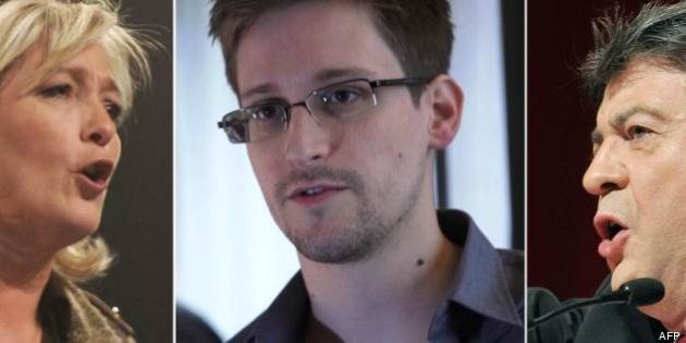 Espionnage: FN, Front de Gauche et EELV réclament l'asile politique pour Snowden et la fin du