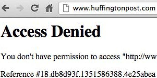Rendu inaccessible par l'ouragan Sandy, Le HuffPost est à nouveau en