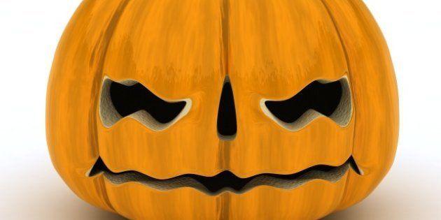 3d render of carved pumpkin...