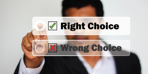 right choice selected by an...