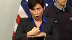 L'interprète en langue des signes du maire de New York fait