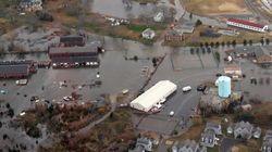 Les dégâts de l'ouragan Sandy vus du