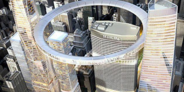 New York : un cercle aérien géant en guise de