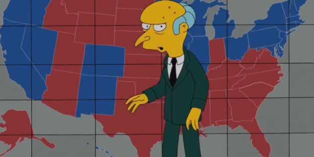 Monsieur Burns a choisi son candidat pour la présidence des Etats-Unis, ce sera Mitt