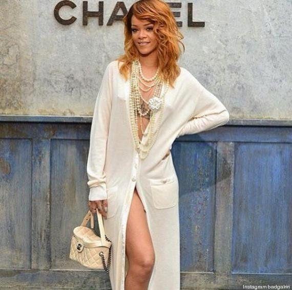 PHOTOS. Mode: Rihanna, invitée star du défilé automne-hiver 2013-2014 de Chanel au Grand Palais à