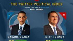 Une carte interactive de la popularité d'Obama et de Romney sur
