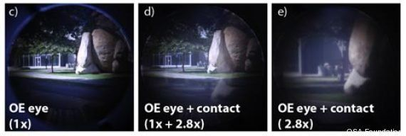 Des lentilles de contact qui offrent une vue