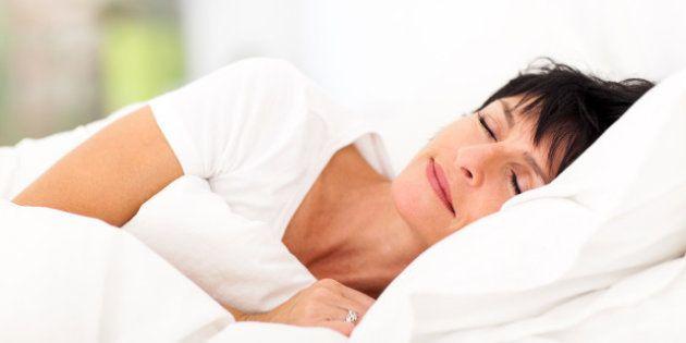 cute mature woman sleeping