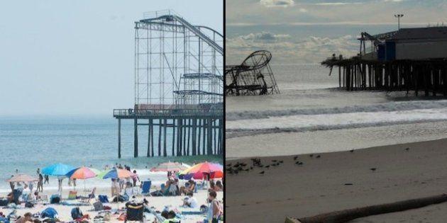 PHOTOS INTERACTIVES - Ouragan Sandy avant / après: la catastrophe en