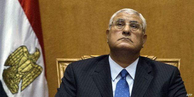Adly Mansour, nouveau président d'Egypte 48 heures après avoir pris ses fonctions de président de la...