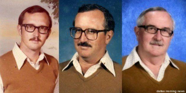 PHOTOS - Il porte les mêmes vêtements sur ses photos de classe pendant 40