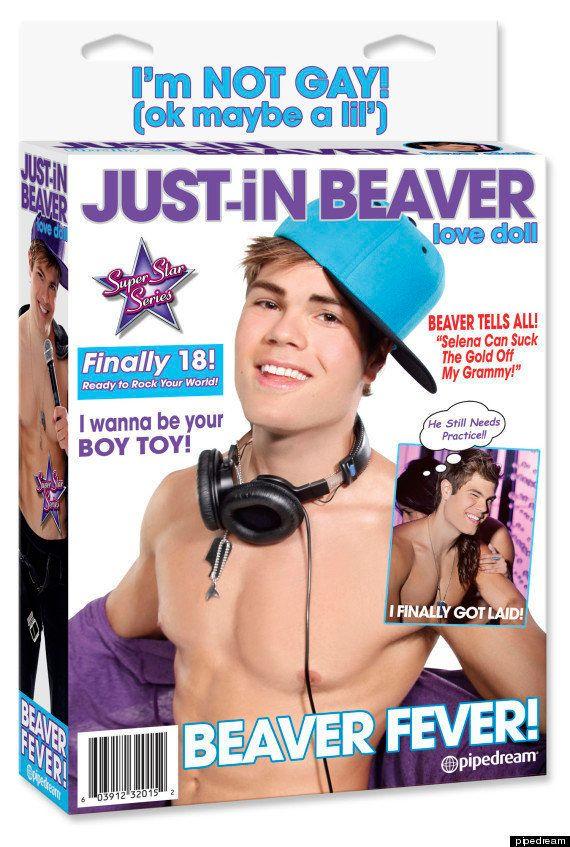 La poupée gonflable Justin Bieber est