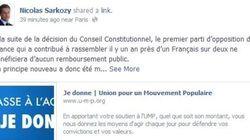 L'appel aux dons de Sarkozy sur