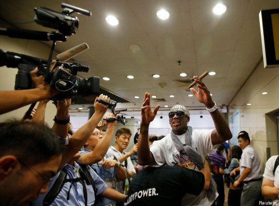 PHOTOS. Corée du Nord: Dennis Rodman repart sans le prisonnier américain Kenneth Bae lors de son deuxième