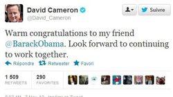 Féliciter Obama via Twitter, la dernière tendance des dirigeants