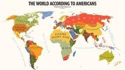 Top 10 des cartes du monde selon les américains en