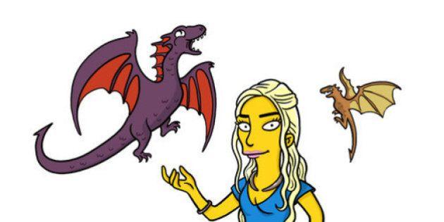 Game of Thrones: les personnages de la série transformés en Simpson par l'artiste belge Adrien
