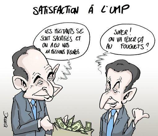 UMP: L'appel aux dons, une riche