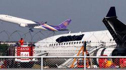 Pour préserver son image, Thai Airways cache son logo après un atterrissage