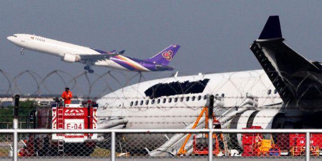 Thai Airways dissimule son logo sur un avion après un atterrissage raté à l'aéroport de